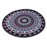 Lanowo-Mandala indienne Tapisserie suspendue, ronde BeachTowel, Gypsy suspendus de mur décoratif, Hippie Hippy Style, Couverture de serviette de douche, Méditation ...