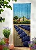 Leguana - Rideau de porte en bambou - motif lavande