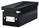 Leitz Boîte de Rangement pour CD, Noir, Click & Store, 60410095