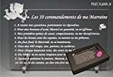 Les 10 commandements de MARRAINE - Ange texte Junior - Cadeau Baptême & Communion