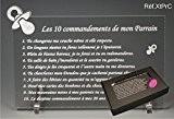 Les 10 commandements de PARRAIN - Tototte texte Comique - Cadeau Baptême & Communion