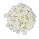LianLe®50PCS Rose tête de fleur artificielle Rose bourgeons artisanat en mousse pour la maison de mariage bricolage décoration festival