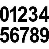 Lot 10cm Noir 20Paragraphe Nombre numéro numéro de maison autocollant Die Cut Tattoo Film décoratif