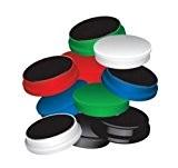Lot de 10Gamme de 25mm Assortiment de couleurs, aimants pour réfrigérateur, tableau blanc effaçable à sec utilisation