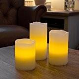 Lot de 3 Bougies LED à Piles avec Télécommande et Parfum à la Vanille de Lights4fun