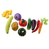 MagiDeal 10pcs Légumes Artificiels Jouet Enfant Jeux d'Imitation Décoration de la Maison Magasin Photographie