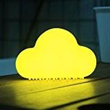 Mini nuages veilleuses, Contrôle automatique du son et magnétique doux Lampes de chevet de Dimmable Silicone Lumières rechargeables de nuage ...