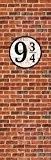 Murs En Briques Papier Peint Photo/Poster Autocollant - Quai Neuf Et Trois Quarts (250 x 79 cm)