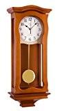 n-2219avec horloge murale à pendule en bois mouvement à quartz moderne radio-pilotée sonnerie wenstminster