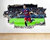 NEYMAR F.C. Barcelone en vinyle chocs garçons chambre Papier peint autocollant mural 3D Art Stickers (Grande (100x 175cm))