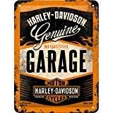 Nostalgic art harley davidson garage plaque de 15 x 20 cm