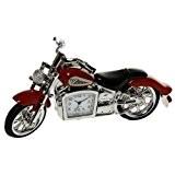 NOUVELLE MOTORBIKE ROUGE MINI NOUVEAU DESKTOP HORLOGE (GRANDE CADEAU HOMME) HARLEY DAVIDSON