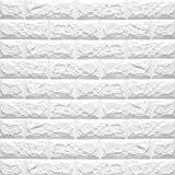 Nunubee 3D Motif de Briques Tile Mur Stickers Polyéthylè Éponge Stickers Muraux DIY Auto-Adhésif Autocollants Imperméable Papier Peint Décoration pour ...