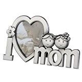 NUOLUX Je t'aime Maman cadre Photo métal (argent)