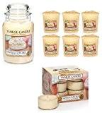 Officiel Yankee Candle 19pièces Ensemble cadeau Cupcake vanille Grande jarre, bougies et bougies votives