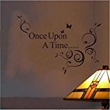 Once Upon A Time amovible Wall Sticker Décoration Stickers, Noir