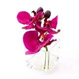 Orchidée Phalaenopsis artificielle en vase, violette, 15 cm, Ø 15 cm - orchidée en pot / fleur décorative - artplants
