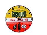 Out of the Blue 79/3221Horloge murale de verre Gasoline, diamètre Env. 30cm Pour 1pile mignon (AA)