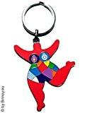 Out of the blue porte-clés avec figurine nana ! hommage niki de saint phalle by biriney nana sculpture