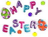 Outlook Design Gel Gems Mini Banner V2TAA00Z00 HAPPY EASTER, Stickers gel décoratif