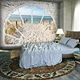 Papier peint intissé 250x175 cm - 3 couleurs au choix - Top vente - Papier peint - Tableaux muraux déco ...