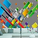 Papier peint intissé 350x245 - 3 couleurs au choix - Top vente - Papier peint - Tableaux muraux déco XXL ...