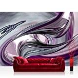 Papier peint intissé photo papier peint papier peint intissé   3D Violet Rose Abstrait Moderne   400x 280cm–Marques haute qualité ...