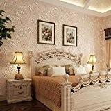 Papier peint non tissé épais 3D stéréoscopique motif de fleurs de papillon papier mural style européen pour salon chambre fond ...