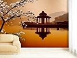 Papier peint photo Asian Pavillon dans différentes tailles–Comme Papier peint ou papier peint intissé au choix–PVC sans odeur, impression latex ...