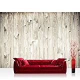 Papier peint photo non tissé Weath Ered Wood Plank. Effet bois bois Panneau mural en bois Bois Blanc Bois ancien ...