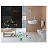Petits pieds mignons autocollants lumineux en verre, salle de bains, tuiles et Chambre Stickers amovibles