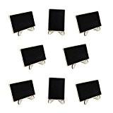 PIXNOR 10pcs Mini Rectangle Ardoises avec Debout pour Message Board Signes Mariage Dîner Party Tableau Place Carte