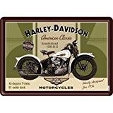 PLAQUE METAL MOTO CLASSIC 1936 - LICENCE HARLEY DAVIDSON - 10x14 cm - FRAIS OFFERT
