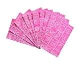 Pochettes cadeaux ou roses Lot de 10sachets de Fête–Sacs En Papier plats dans rose?; Taille?: 9,5x 14cm + 2cm languette–1A ...