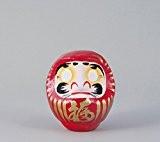 Porte-Bonheur japonais Daruma, rouge–Bonheur dans toutes choses, 12cm
