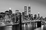 Poster XXL Giant Art® Manhattan Skyline at Night photo, photo murale, poster, grand format, 175x115 cm, ville, noir et blanc, New ...