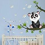 """R00077 Stickers muraux pour enfants imprimé sur papiers peints Wall Art """"Baby panda"""""""