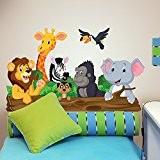 R00145 Stickers muraux pour enfants imprimé sur papiers peints Wall Art - Animals bavards