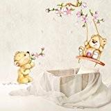 R00154 Stickers muraux pour enfants imprimé sur papiers peints Wall Art - Ours printemps