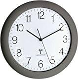 Radio contrôlée horloge murale TFA 60.3512.20 Silent Mouvement de balayage 300 mm