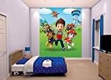 Room Studio 44128 Fresque Murale Pat Patrouille 8 Lés Plastique Vert 243 x 0,1 x 200 cm