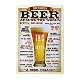 ROSENICE Bière Affiche Poster Plaque en Metal Vintage Décoration Murale