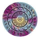 Round BeachTowel, Lanowo Gypsy suspendu de mur décoratif, Hippie Hippy Style, Couverture de serviette de douche, de méditation Tapis de ...