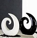 Sculpture Creek céramique noire - Hauteur 21 cm