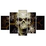 Set de 5pcs Peinture sur Toile Tableau Mural Art Décoration pour Maison - Crâne Squelette , L