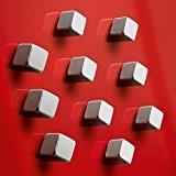 Sigel GL193 Lot de 10 aimants cubiques SuperDym C5 «Strong» pour tableaux magnétiques et tableaux magnétiques en verre, 1 x ...