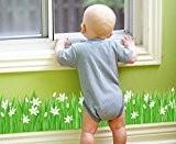 Skyllc® Beau Sayuri Grassland porte d'entrée plinthe salle de cuisine et fenêtre décoration stickers muraux