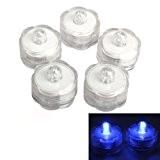 SODIAL(R)20PCS LED submersible mariage legeres Parti flamme etanche Bleu photophores