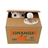 SOLEDI Boîte Tirelire Economiser Piece de Monnaie Design Cute Animal Volent Cadeau pour les Enfants (Chat blanc)