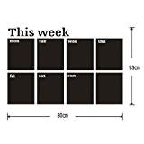 SonlineSticker Autocollant Mural Tableau Noir Blackboard 60x80cm Agenda Semainier